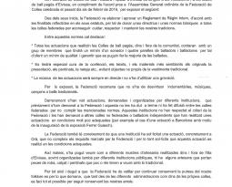 DIRECTRIUS I NORMES BÀSIQUES FEDERACIÓ DE COLLES DE BALL D'EIVISSA
